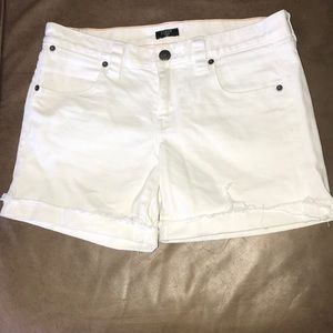 Jcrew white stretch shorts